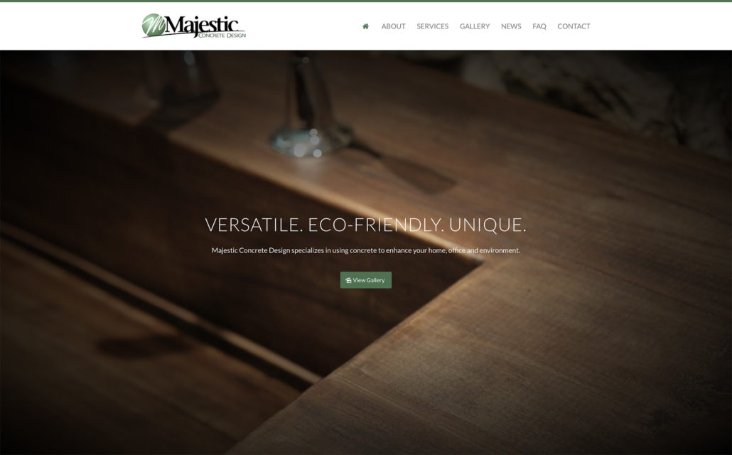 Majestic Launches New Website - Majestic Concrete Design